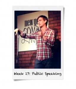 Week 17: Public Speaking