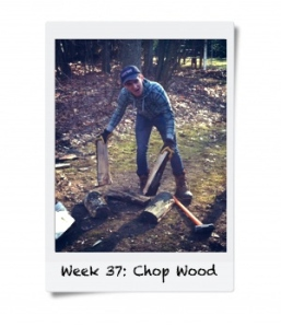 Week 37: Chop Wood